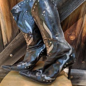 Aldo Stilleto Rocker Cowboy Boots
